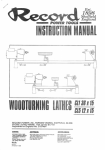 Record CL1 Instruction Manual