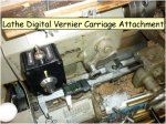 Lathe digital vernier carriage attachment